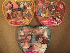Polly Pocket Princess Favorite Moments Cinderella Snow White Belle Sets Lot New