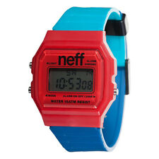Neff Men's Flava XL Watch Red Blue Teal streetwear accessories wrist watch