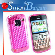 New Pink Soft Gel TPU Cover Case For Nokia E5 + Film
