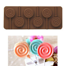 Lollipop Silicone Mould Ice Cube Chocolate Cake Cookie Cupcake Soap Molds 6 Hole