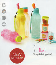 Tupperware Eco Bottle 500ml (1) with Matching Strap (1) and Matching Midget (1)