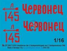 Peddinghaus 1/16 T-34/85 Chervonets Tank Markings Dmitry Frolikov Belarus 2880