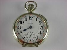 Antique Illinois 18s Model 6 Rail Road pocket watch, made 1914. In salesman case