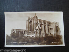 old GB real photo card,Liverpool Cathedral,91740JV 10.4x6cm