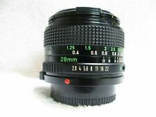 Canon  28mm f2.8  Wide Angle Prime  Lens , Canon FD Mount , V/Good,