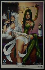 Widows Web #1 Lingerie Art Print Signed by Elias Chatzoudis Limited to 25