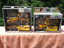 2 Toy State CAT Mini Machines 4 & 5 pack Mini Construction Vehicles -New