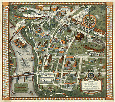 1927 Map University of Minnesota Campus Buildings Idiosyncracies Ready to Frame