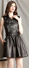 $2260 Authentic RED VALENTINO Women's Sleeveless Nappa Leather Dress Jacket 40