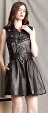 $2260 Authentic RED VALENTINO Women's Sleeveless Nappa Leather Dress Jacket 40