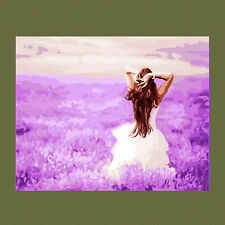 Purple Fantasy DIY Paint By Number Kits On Canvas Digital Oil Painting