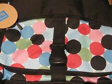 Pottery Barn Messenger Book Bag Pop Dot Blue Pink Black School Lap Top Weekend