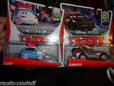 SUKI AND KABUTO DISNEY CARS AND WORLD OF CARS  MOC  FREE U.S. SHIPPING