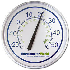 LARGE WALL THERMOMETER GARDEN PATIO OUTDOOR INDOOR GREENHOUSE OFFICE - IN-036