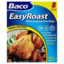 Baco Roasting Bags 25cm x 38cm Oven Roast Bag 8 Pack Large Chicken Poultry Meat