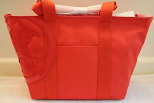 NWT Authentic TORY BURCH Canvas Small Tote Beach Bag in Poppy Red $195
