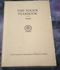The Police Yearbook Association Chiefs of Police 1954 Detroit Michigan