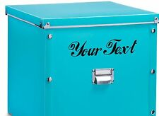 2X CUSTOM VINYL DECAL. for Storage box, tool box. CHOOSE COLOUR & FONT