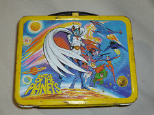 VINTAGE METAL LUNCH BOX PAIL BATTLE OF THE PLANETS '79 KING-SEELEY G-FORCE ANIME