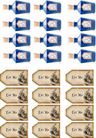 Alice In Wonderland Drink Me Eat Me Edible Wafer Paper Cupcake Toppers x 24
