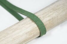 STE004 5 METERS GREEN SUEDE MAN-MADE LEATHER BRAID TSUKA-ITO