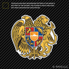 Armenian Coat of Arms Sticker Decal Self Adhesive Vinyl Armenia flag ARM AM