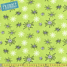 Michael Miller Fabric Star Jacks Kryptonite PER METRE Atomic Sputnik Retro 50s 6