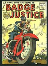 Badge of Justice - cartolina moderna riproducente  copertina fumetto anni '50