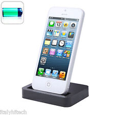 DOCK DOCKING STATION IPHONE 5 NERA BLACK BASE DI RICARICA SINCRONIZZAZIONE USB