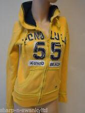 ☆ NEW LOOK Ladies Yellow/Blue Zip Through Hoodie Hooded Jacket Top UK 8 EU 36 ☆