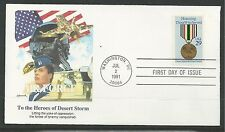 # 2551 HONORING DESERT STORM HEROES-AIR FORCE 1991 Fleetwood First Day Cover (1)