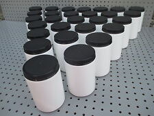 (28) 24 oz Empty White Plastic Storage Containers Jars MADE IN USA FOOD SAFE X