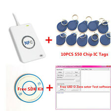 ACR122U NFC RFID USB Reader&Writer For UID Card ZERO 0 Rewritable+sdk+mifare tag