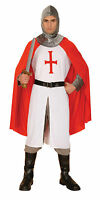KNIGHT CRUSADER ADULT FANCY DRESS EXTRA LARGE COSTUME MEDIEVAL