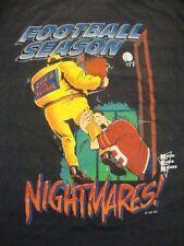 Vintage Football Season Nightmares Macho Earth Natives Comic Cartoon T Shirt L