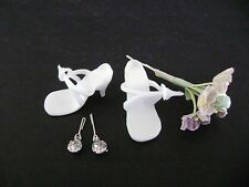 Vintage ORIGINAL Ideal Little Miss Revlon Doll Shoes with Jewelry & Flowers