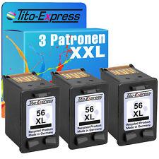 Druckerpatrone für 3x HP 56 Deskjet Officejet PSC HP56