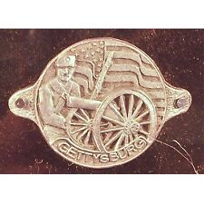 GETTSYBURG CIVIL WAR WALKING STICK MEDALLION 70287 NEW MADE OF METAL SIZE 1.5 IN