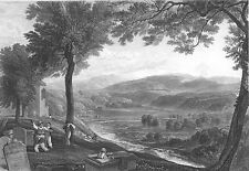 CUMBRIA VALLEY RIVER LUNE KIRKBY LONSDALE CHURCHYARD ~ 1875 Art Print Engraving