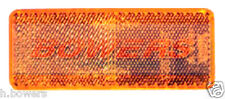SIDE AMBER ORANGE STICK ON ADHESIVE RECTANGULAR REFLECTOR TRUCK TRAILER CARAVAN
