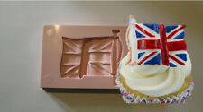 SILICONE MOULD UNION JACK UK ENGLAND ENGLISH FLAG CUPCAKE CAKE RESIN FIMO CLAY
