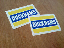 DUCKHAMS Motor Oil Classic Retro Race Rally Car Stickers Decals 75mm 2 off