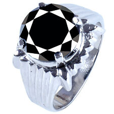 5.16ct Black Moissanite men's .925 Silver Ring