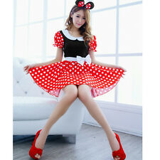 Sexy Christmas Mouse Women Xmas Costume Cosplay Dress Up Outfit Ear Clothes Set