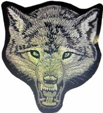 Wolf Head Rare Iron / Sew On Embroidered Patch Badge Animal Badges new freepost