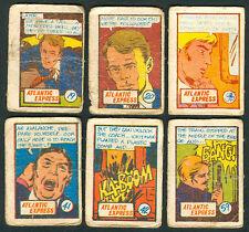 6 Vintage EXOTIC ATLANTIC EXPRESS Philippine TEKS / Trading Comic Cards