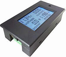 6.5-100V 20A 4-in-1 LCD Digital Current Volt Amp Power Watt  Meter Amperemeter