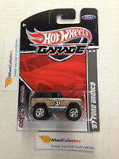 '67 Ford Bronco * RARE Tan/Black w/ Real Riders * 2011 Garage Hot Wheels * D43