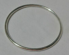 Size 7 Genuine 925 sterling silver Gypsy, Golf  style tube Bangle