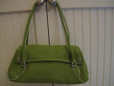 "Cole Haan Lime Green Leather ""Village"" bag. Very good condition. Lightly used."
